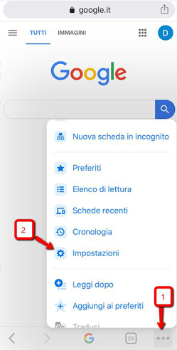 Gestione Password Google Smartphone e Tablet