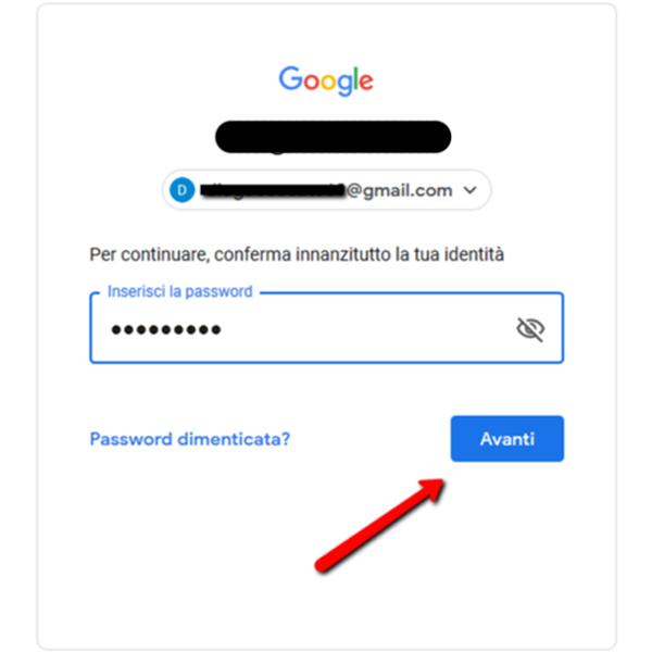 Autenticazione a due fattori Google 2