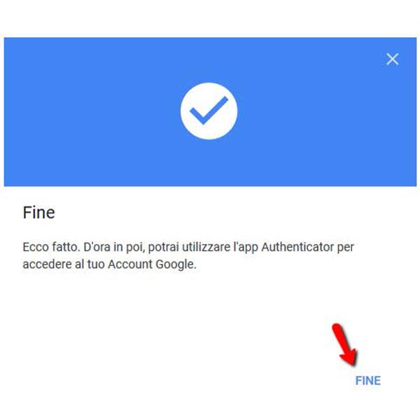 Autenticazione a due fattori app google authenticator 5