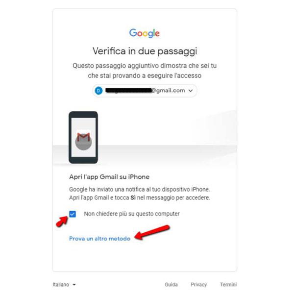 Autenticazione a due fattori app google authenticator sincronizzazione 4