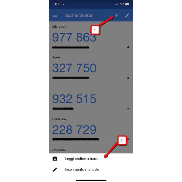 Autenticazione a due fattori app google authenticator 4